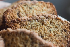 Bourbon and Brown Butter Banana Bread with Cinnamon Streusel Topping