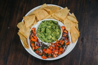 Guac and Pico with Zesty Lime Chips