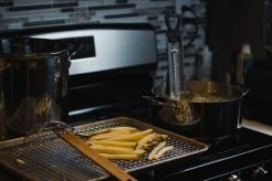 Crispy Black Truffle French Fries with Lemon Basil Aioli