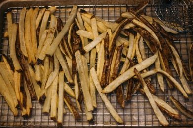 Crispy Black Truffle French Fries with Lemon Basil Aioli