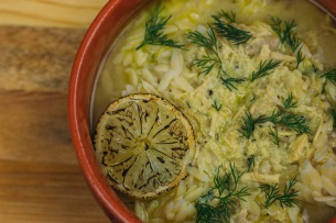 Avgolemono Chicken Soup with Orzo