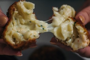 Fried Lobster Mac and Cheese with Creamy Herb Dipping Sauce