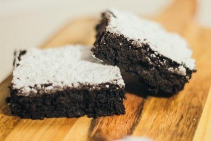 Dark Chocolate Fudge Brownies